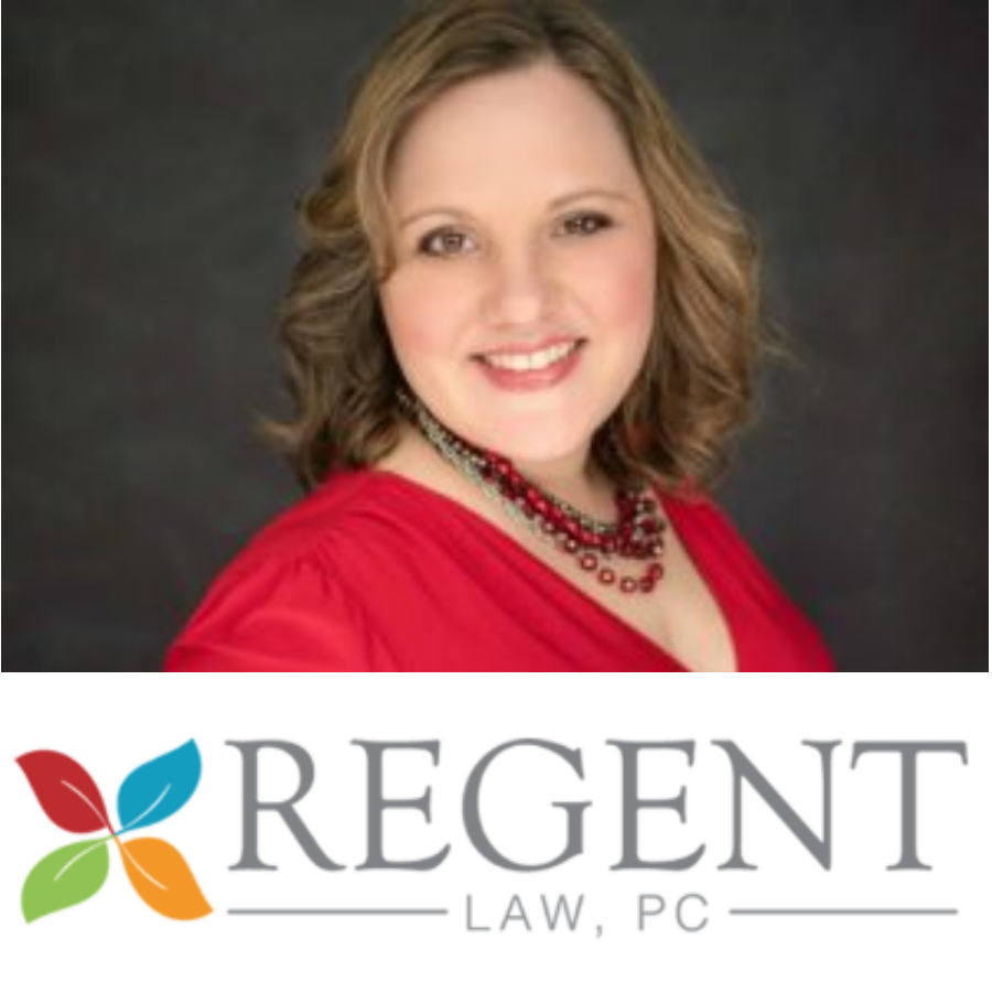 regent law. image of sonja and logo