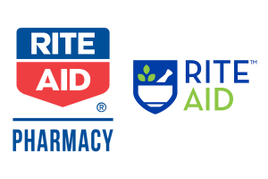 rite aid's rebrand. Old logo and new logo